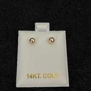14 Karat Solid Gold 5mm Earrings 🌟Brand New